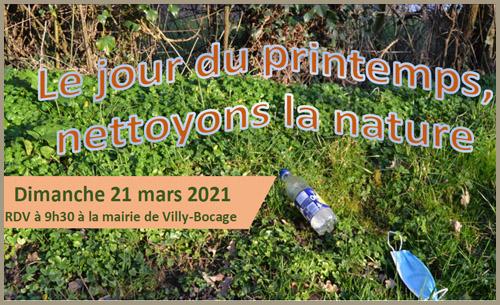 21 Mars 2021 : opération 'Nettoyons la Nature'