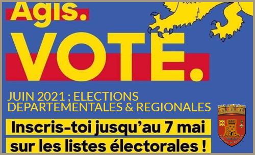 Elections 2021 : pour voter, inscrivez-vous avant le 7 Mai