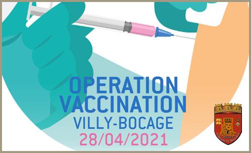 2e Opération Vaccination à Villy-Bocage le 28 Avril 2021