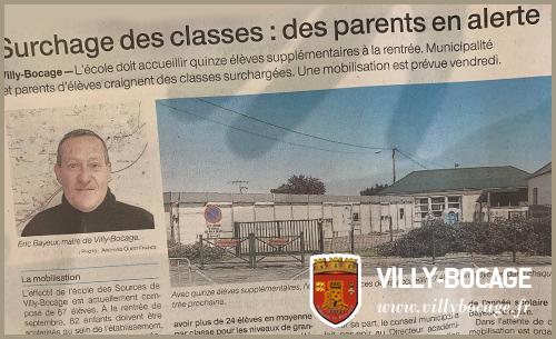 Dans la presse : «Une ouverture de classe demandée pour la rentrée»