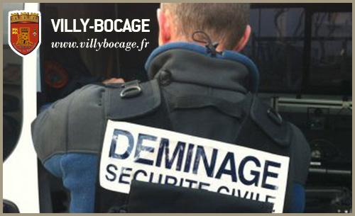 Deminage a Villers-Bocage le 19/09 et déviation
